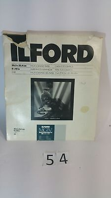 "Free Postage Ilford Photo Paper Photograph Paper 8""x 10"" / 20.3 x 25.4"