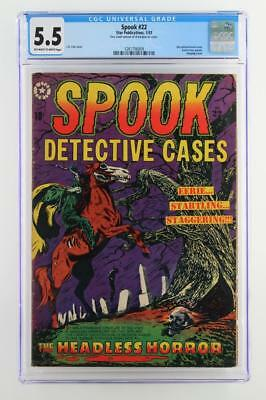 Spook #22 (#1) - CGC 5.5 FN- Star 1953 - Decapitation & hanging cover - RARE!!!