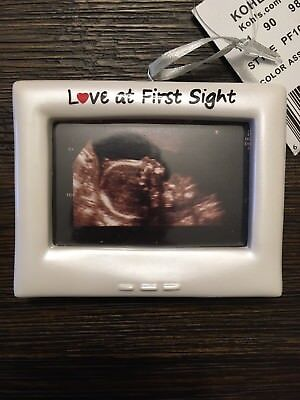 Love At First Sight Ultrasound Picture Frame Baby Shower Gift gender reveal