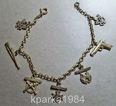 Ww2 Era Us Army Charm Bracelet 1911 Colt 45 Carbine Sharpshooter Awards