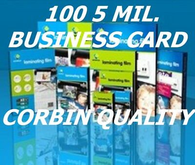 100 Business Card 5 Mil Laminating Pouches Laminator Sleeves 2-1/4 x 3-3/4 Fast