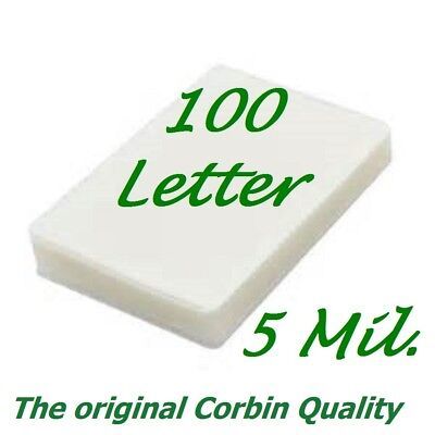100 Letter 5 Mil Laminating Pouches Laminator Sheets 9 x 11-1/2 Scotch Quality