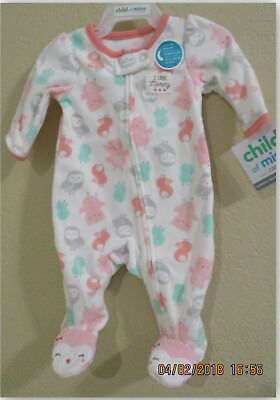 Child of Mine by Carter's newborn or 0-3M Baby Girl Longsleeve One Piece Outfit