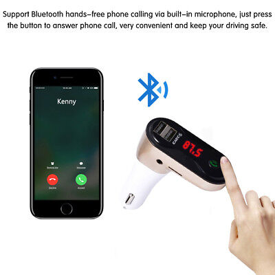 Handsfree Wireless Bluetooth MP3 Player Dual USB Port Car Charger FM Transmitter