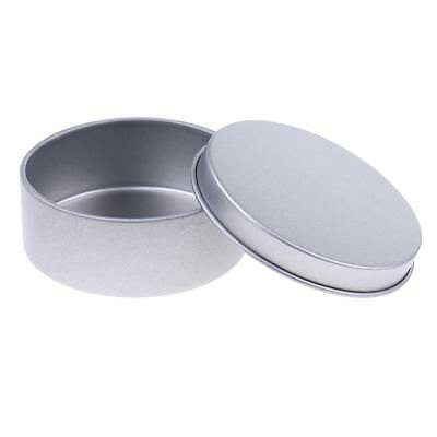Empty Tinplate Cosmetic Pot Tin Container Silver Candle Tins Sample Lip Balm