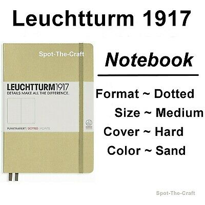 Leuchtturm1917 - Dotted Journal / Notebook - Medium A5 - Sand