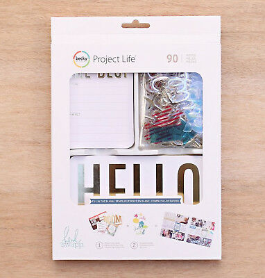 Project Life HEIDI SWAPP FILL IN THE BLANK VALUE KIT (90) PCS 312063 GOLD FOIL