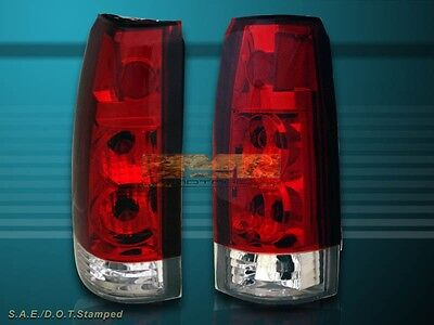 88-98 Gmc Chevy Ck Full Size 92-99 Tahoe Suburban Yukon Tail Lights Red Clear