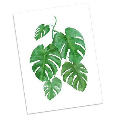Nordic Style Watercolor Banana Leaf Poster Print Wall Art Canvas Painting S