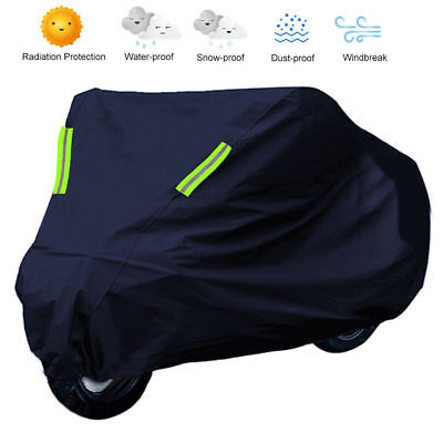 S Motorcycle Cover Waterproof Outdoor Rain Dust UV Scooter Motorbike Protector