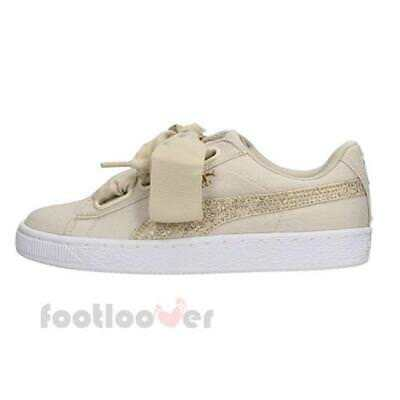 67a3ae5736d298 Puma Basket Heart Canvas Wns 366495 01 Womens Shoes Birch Gold Casual  Sneakers