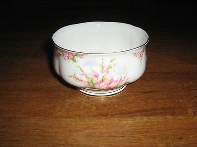 Royal Abbert Fine China Made In England Blossom Time Sugar Bowl. Mint Condition.