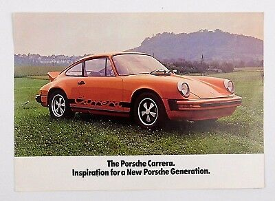 1974 Original Porsche 911 911S Carrera Dealer Sales Brochure Foldout