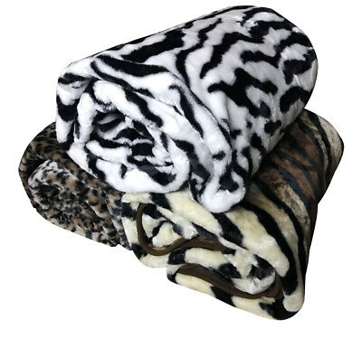X Large Winter 1.5 x 2 Meter Plush Mink Blanket Thick & Soft