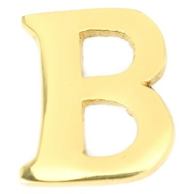Small 32 mm Solid Brass Letter B Self Adhesive