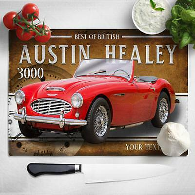 Personalised Austin Healey 3000 Chopping Board Worktop Saver Classic Car CL01