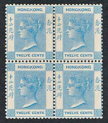 HONG KONG 46 MINT NH, 12c BLUE VICTORIA, BLOCK 4, WMK CA