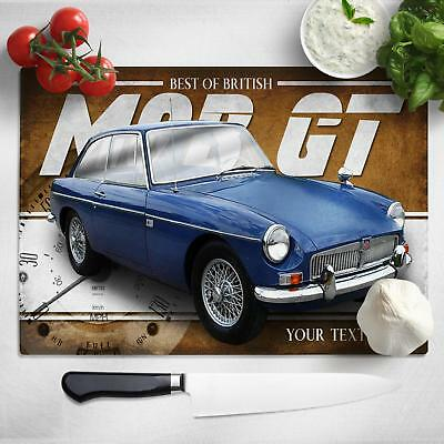 Personalised MGB GT Chopping Board Worktop Saver Classic Car Gift CL30