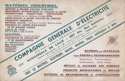 Buvard 113853 Compagnie General Electricite Lille