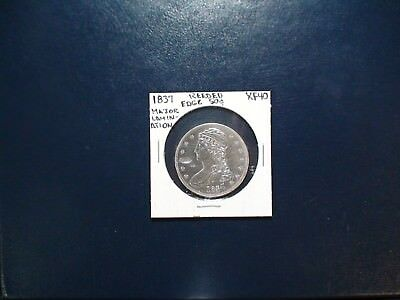 1837 REEDED EDGE CAPPED HALF ERROR 50C SILVER Coin Auction Starts At 99 Cents!