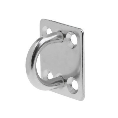 8x Pad Eyes Marine Rigging 316 Stainless steel square plate 5mm 35x30mm