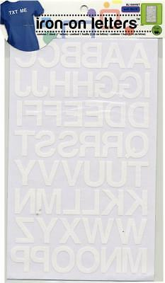 Dritz BL100-WH Sewing Iron-On Letters 1 Inch Block Font-White