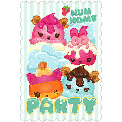 NUM NOMS INVITATIONS 8 Birthday Party Supplies Stationery Cards Notes Food
