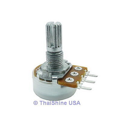 5 x B500 500 OHM Linear Taper Rotary Potentiometers - USA SELLER - Free Shipping