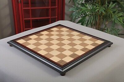 "Walnut and Maple Classic Traditional Chess Board - 2.25"" Squares"