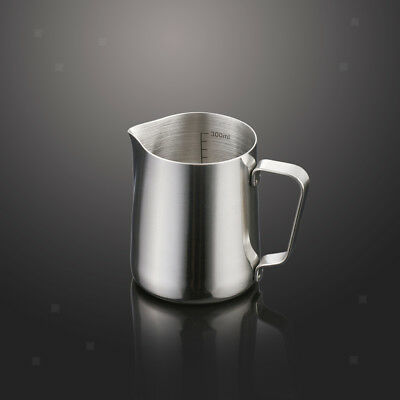 350ml Kitchen Stainless Metal Coffee Frothing Milk Tea Latte Jug with Scale