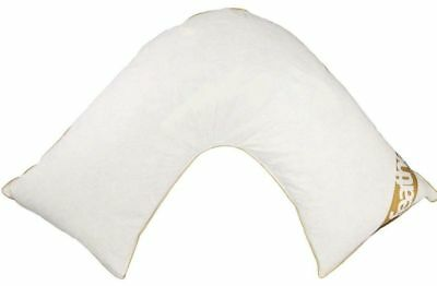 Goose Duck Feather & Down V Shaped Pregnancy Orthopedic Pillow Back Neck Support