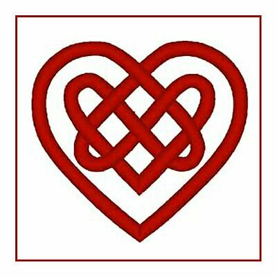 Celtic Knot Heart in Red Counted Cross Stitch Pattern
