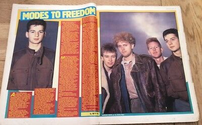 DEPECHE MODE 'modes to freedom' 1983  ARTICLE / clipping