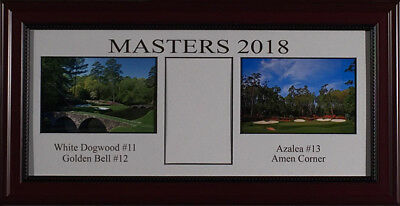 2018 Masters Practice Round Ticket Holder Framed - Displays Your Daily Ticket