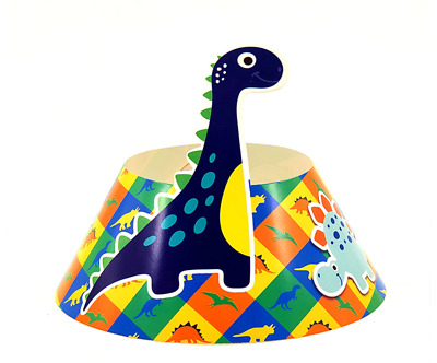 6 PCS Kids Dinosaur Theme Children's Happy Birthday Party Paper Cone Hats
