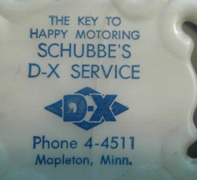 DX 1940's Advertising Thermometer from SCHUBBE'S DX SERVICE Mapleton  MN