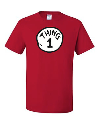 Thing 1-2-3-4 Red Kids size T-Shirt 6 Months To Adult 5XL The Best