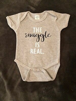 The Snuggle Is Real Bodysuit Grey (Newborn-12 Month)