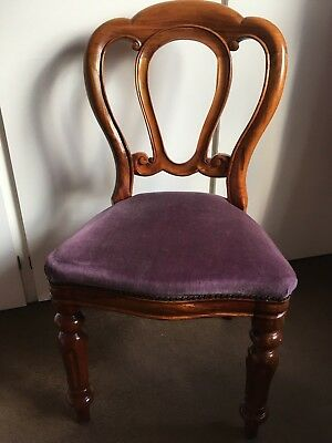 Lovely Pair Of Dining Chairs   Victorian Reproduction Balloon Back Chairs