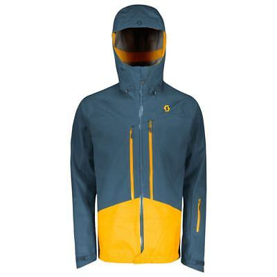 Scott Explorair 3L Jacket 2018 Nightfall Blue / Harvest Yellow