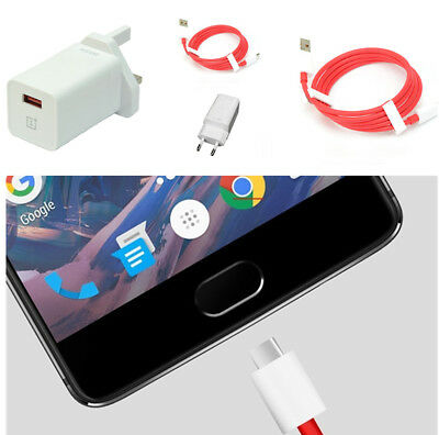 Durable Genuine OnePlus Dash High Speed 4A UK/EU Adapter Plug Charger & Cable