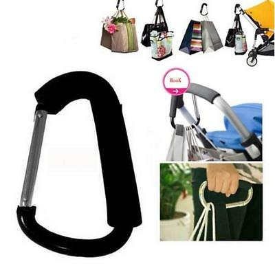 Pram Pushchair Shopping Bag Hook Carabiner Large D Ring Buggy Mummy Clip J