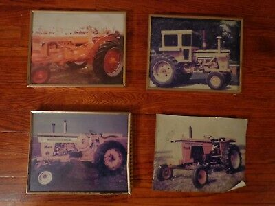 Four Old Minneapolis Moline Tractor Pictures