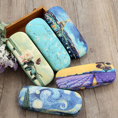 Glasses Box Oil Painting Sunglasses Eyeglasses Reading Case Vintage Art Storage