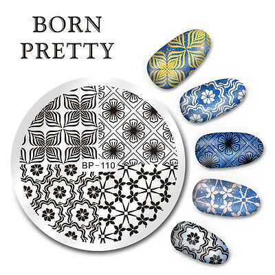BORN PRETTY Nail Art Stamping Image Plate Stencil Small Flower DIY BP-110