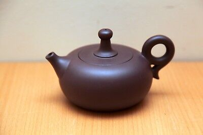 Signed Vintage Chinese Yixing Teapot. Very Tightly lid and interesting shape.