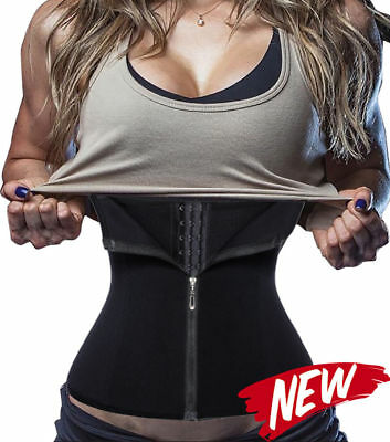 4 steel Boned Waist Trainer Corset Workout Body Shaper Girdle With Zipper