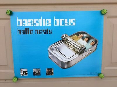 "Beastie Boys ""Hello Nasty"" Blue 18x24 Promotional Poster"