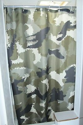 RV Shower Curtain Accessories Gear For Camper Trailer Camping Bathroom