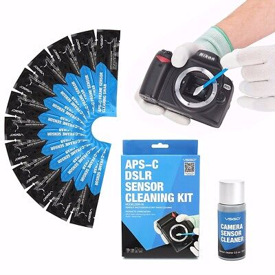 12PCS Professional APS CCD/CMOS Cleaning Swab Sensor Cleaner Kit For DSLR Camera
